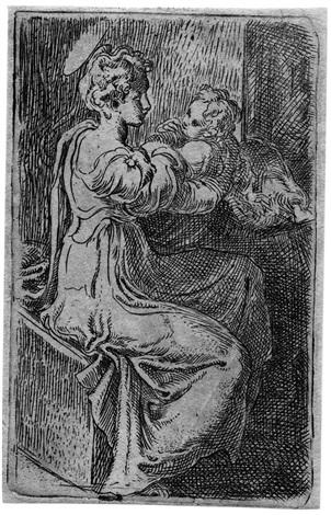 madonna mit dem kind by parmigianino