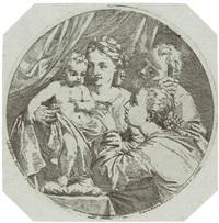 die mystische vermählung der hl. katharina (after lorenzo pasinelli) by antonio maria lunghi