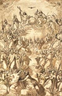 versammlung der heiligen im himmel by girolamo gambarato