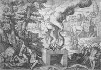 das trojanische pferd by giovanni battista fontana