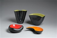 articles and ashtray (5 works) by elchinger