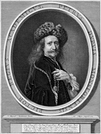 bildnis des malers pierre dupuis (after nicolas mignard) by antoine masson
