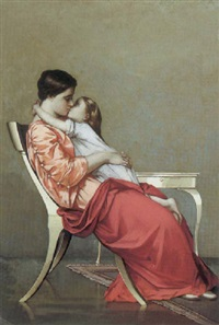 mother and child by theophilus (theodore) reichard