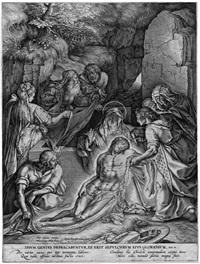 die grablegung (after otto van veen) by hieronymus wierix