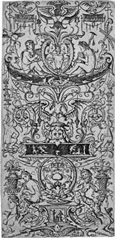 zwei ornamentfüllungen mit den worten victoria augusta und m. preliorum deus (2 works) by nicoletto da modena