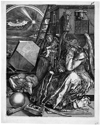 melancholia (after albrecht dürer) by hieronymus wierix