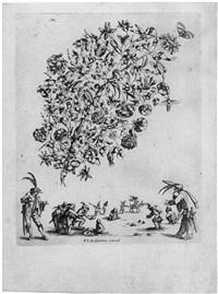 livre de fleurs & de feullies pour servir a l'art d'orfeverie invante par françois le febure maistre orfevre a paris (4 works, 8 vo.) by baltazar moncornet