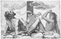 memento mori mit adam und eva am fuße des kreuzes by claude mellan