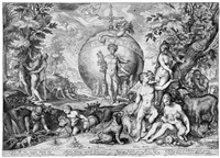 das goldene zeitalter (after goltzius) by adriaen jacobz matham