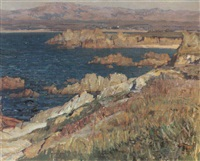 a coastal view, california by ernest bruce nelson