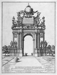 arco trionfale fatto erigere dal ser.mo sig.r duca di parma alle glorie della santita di n. s. papa clemente xi. by alessandro specchi