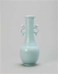 漾春雪香 粉青釉 (fragrant snow in spring, vase) by xu dingchang