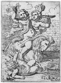 bacchanal mit drei kindern und einem ziegenbock by lorenzo loli