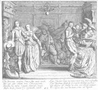 interieur mit einer tanzgesellschaft by cornelius koning