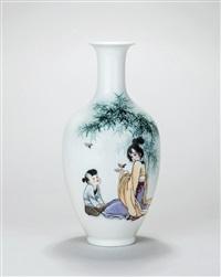 乐在其中 (enjoy, a vase) by dai ronghua