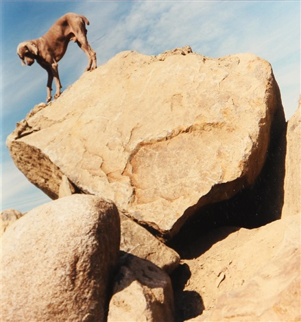 rock clock by william wegman