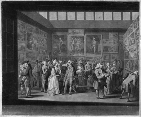 the exhibition at the royal academy of painting in the year 1771 after charles brandoin by richard earlom