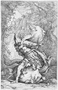 jason und der drache by salvator rosa