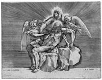 die pietà (after michelangelo buonarotti) by giulio sanuto