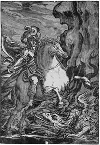 der heilige georg im kampf mit dem drachen (after pordenone) by giuseppe scolari