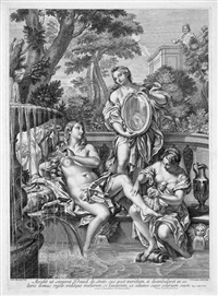 david und bathseba (after carlo maratti) by robert van audenaert