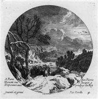 die vier jahreszeiten im rund (4 works) by gabriel perelle