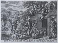 die parabel vom guten hirten by julius goltzius