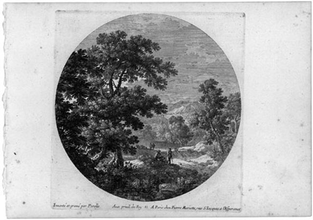 sechs landschaften im rund (6 works) by gabriel perelle
