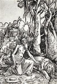 der hl. hieronymus als büßer in der wildnis by hans baldung grien