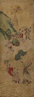 祝寿图 by ding yunpeng