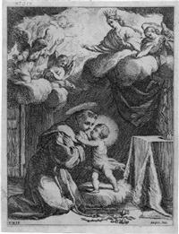 der heilige antonius von padua mit dem jesusknaben by giovanni battista mercati