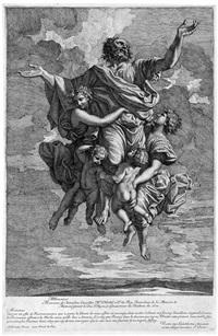die verzückung des apostel paulus (after nicolas poussin) by jean pesne