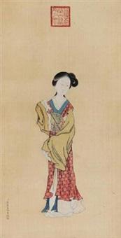 仕女 by jiao bingzhen