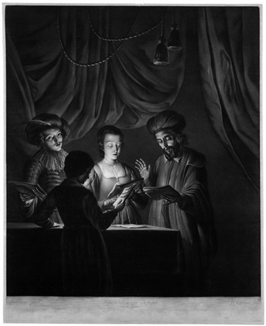 das quartett the singing masters after gottfried schalcken by richard earlom