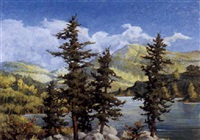 alpine lake by harold morse ward