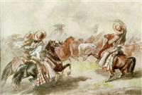 rounding up the horses by manuel serrano