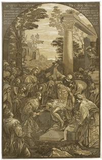 die auferstehung des lazarus (after jacopo bassano) by john baptist jackson