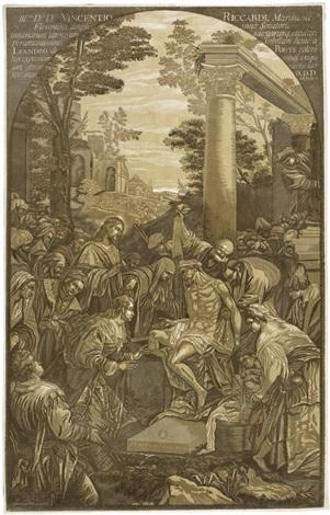 die auferstehung des lazarus after jacopo bassano by john baptist jackson