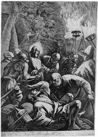 christus am ölberg (after jacopo bassano) by robert picout