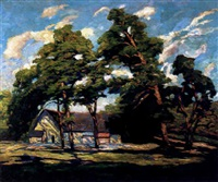 a house among trees by emery gellert