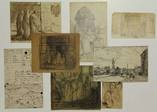 lot of 76 lvs. with 1 or more drawings/ sketches and 2 etchings by jacobus cornelis wyand cossaar