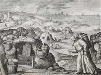 18 bl. mit darstellungen von eremiten (18 works) by jan sadeler i