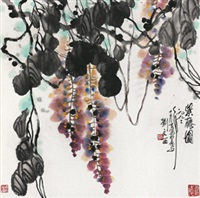 紫藤图 by liu wenxi