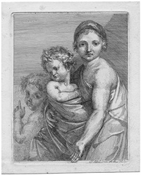 die mutter mit zwei kindern by josef abel