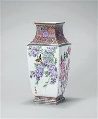 紫藤小鸟 (a vase) by xu yafeng