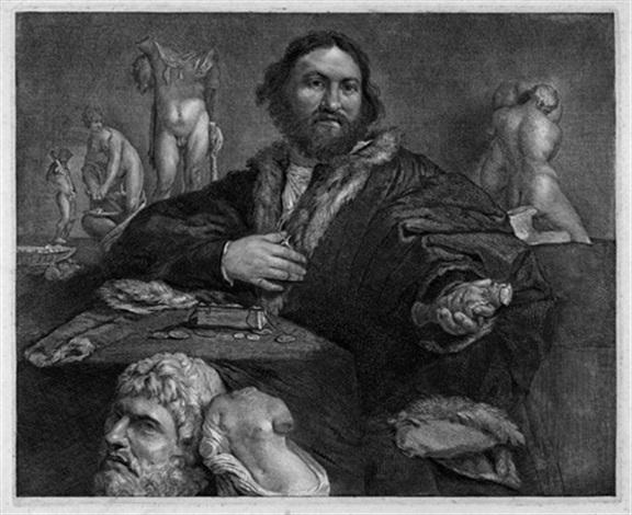 bildnis des kunstsammlers andrea odoni after lorenzo lotto by cornelis visscher