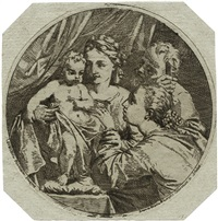 die mystische vermählung der heiligen katharina (after lorenzo pasinelli) by antonio maria lunghi