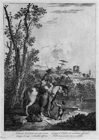 die folge der zwölf landschaften (12 works) (after francesco zuccarelli) by francesco bartolozzi