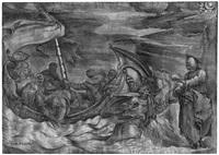 christus auf dem wasser wandelnd by giulio sanuto