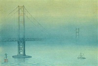 untitled (golden gate bridge) by kakunen tsuruoka